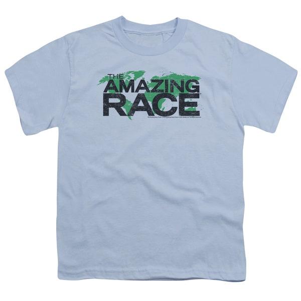 Amazing Race/Race World Short Sleeve Youth 18/1 Light Blue
