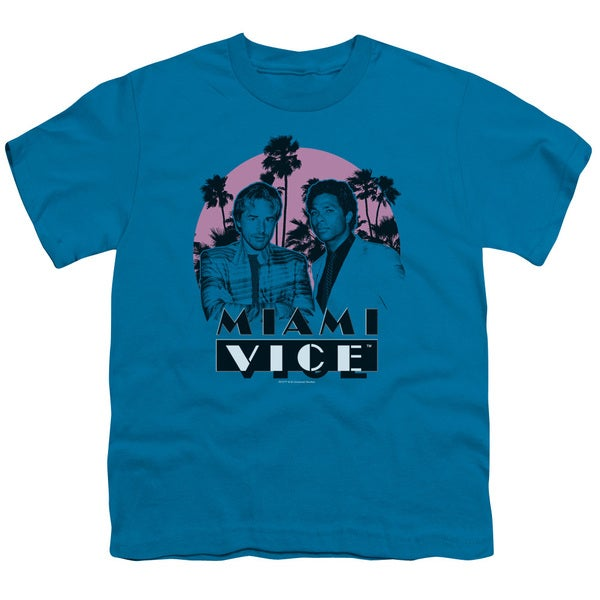 Miami Vice/Stupid Short Sleeve Youth 18/1 in Turquoise