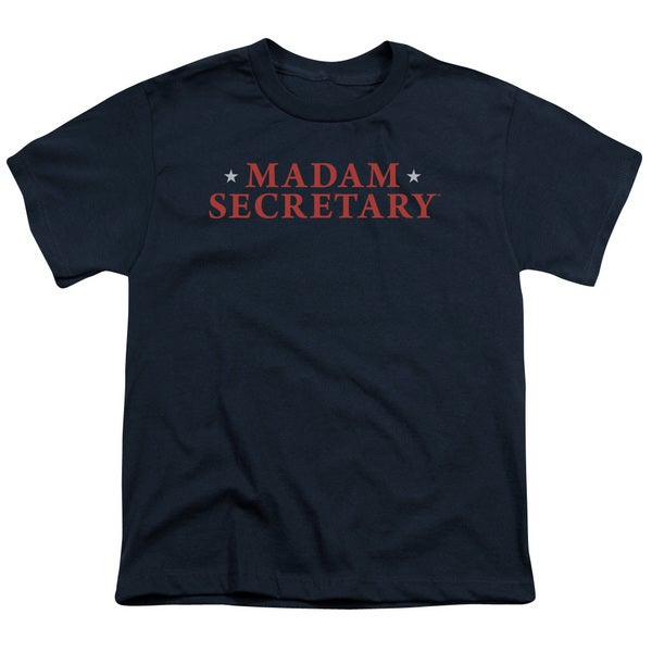 Madam Secretary/Logo Short Sleeve Youth 18/1 in Navy