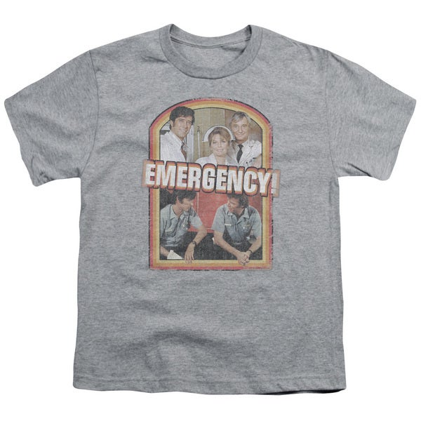 Emergency/Retro Cast Short Sleeve Youth 18/1 in Heather