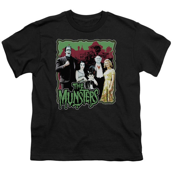 Munsters/Normal Family Short Sleeve Youth 18/1 in Black