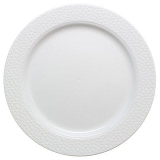 Table To Go 'I Can't Believe Its Plastic' Ivory 7.5-inch Hammered-design Plate, Hammered Design (Case of 200 Pieces)