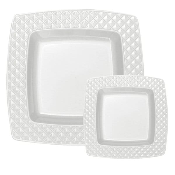 Table To Go White Plasticware Plate (Set of 50)