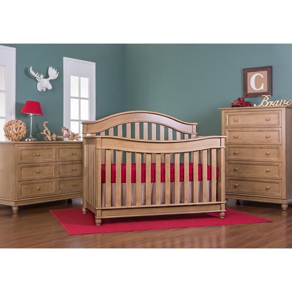 Evolur Hampton LifeStyle Frosted-finish Wood 5-in-1 Convertible Crib
