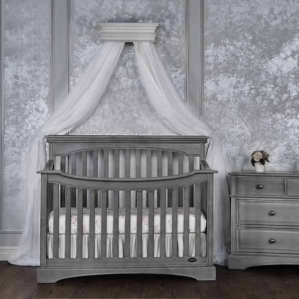 Evolur Catalina Flat Top Collection Life-style Grey Wood Crib