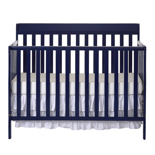Dream On Me Alissa Blue-finish Wood Convertible 4-in-1 Crib