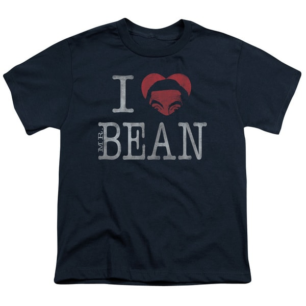Mr Bean/I Heart Mr Bean Short Sleeve Youth 18/1 in Navy