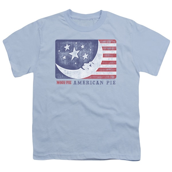 Moon Pie/American Pie Short Sleeve Youth 18/1 in Light Blue