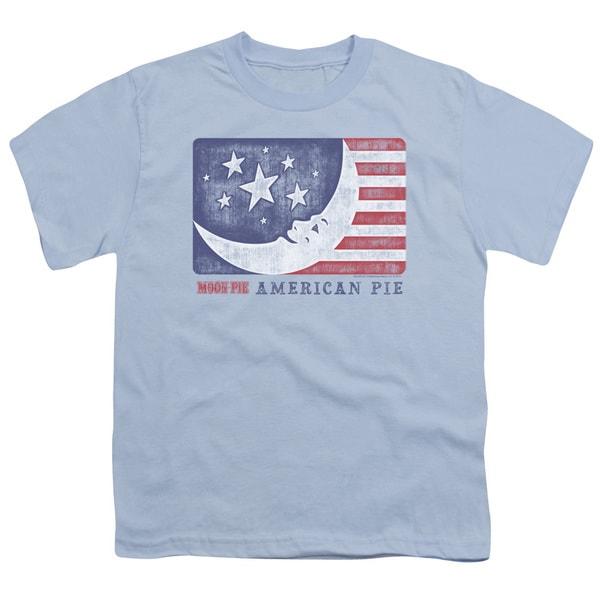 Moon Pie/American Pie Short Sleeve Youth 18/1 in Light Blue
