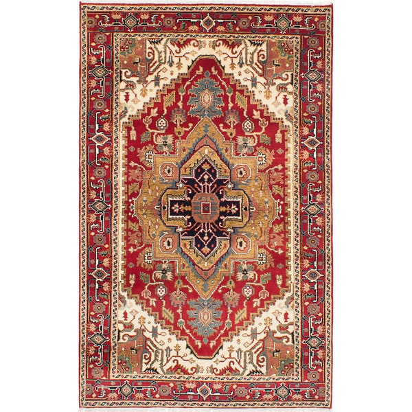 eCarpetGallery Hand-knotted Serapi Heritage Red Wool Rug (5'0 x 8'1) 21149369
