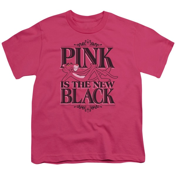 MGM/Pink Panther/The New Black Short Sleeve Youth 18/1 Hot Pink