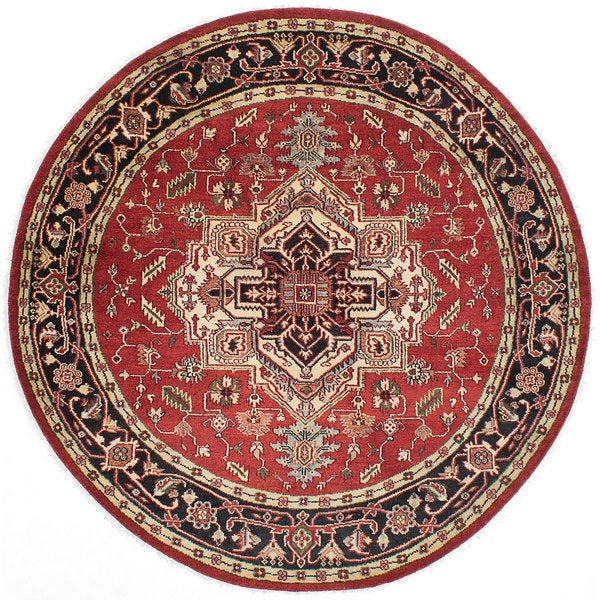 eCarpetGallery Serapi Heritage Red Wool Hand-knotted Rug (8' x 8') 21149699