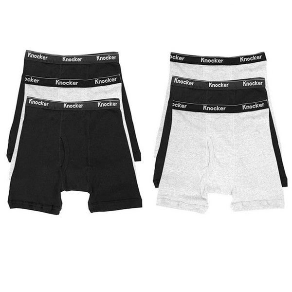 Knocker Men's Cotton Boxer Briefs (Pack of 6)