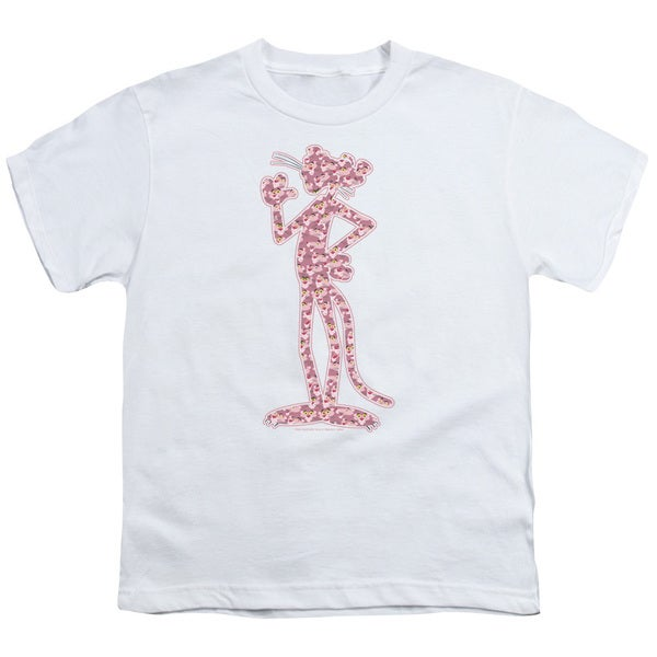 MGM/Pink Panther/Heads Short Sleeve Youth 18/1 White