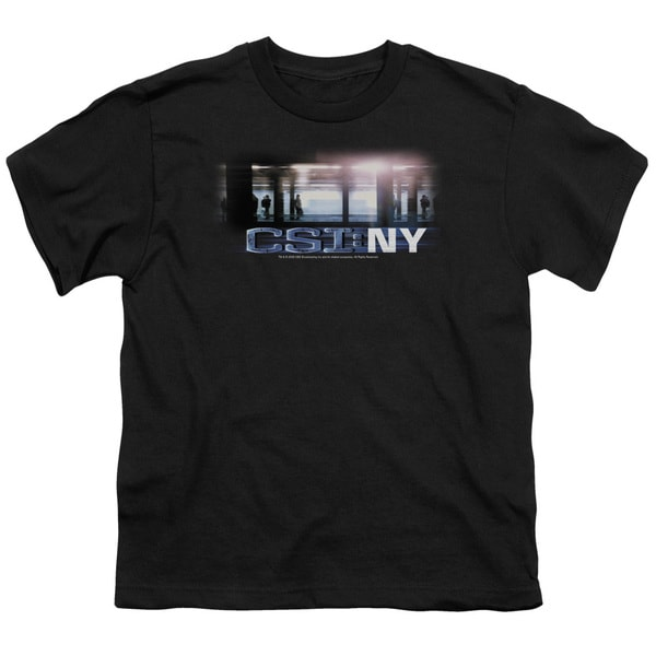 CSI/New York Subway Short Sleeve Youth 18/1 in Black
