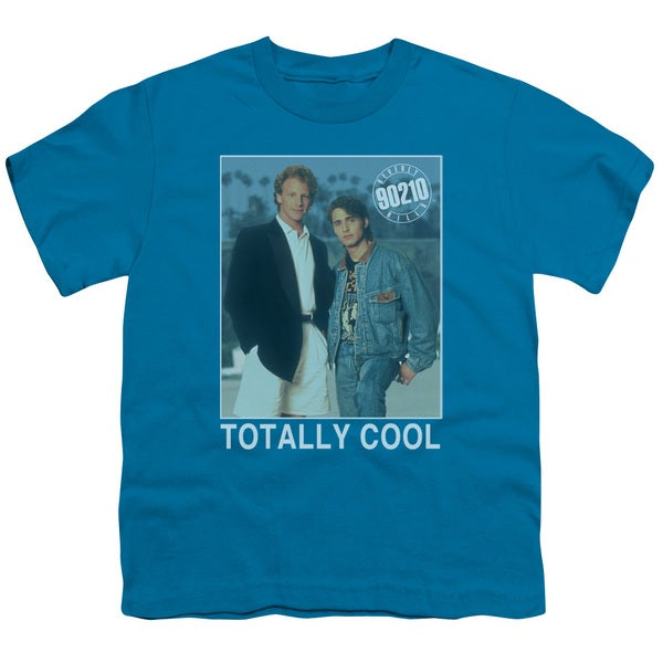 90210/Totally Cool Short Sleeve Youth 18/1 in Turquoise