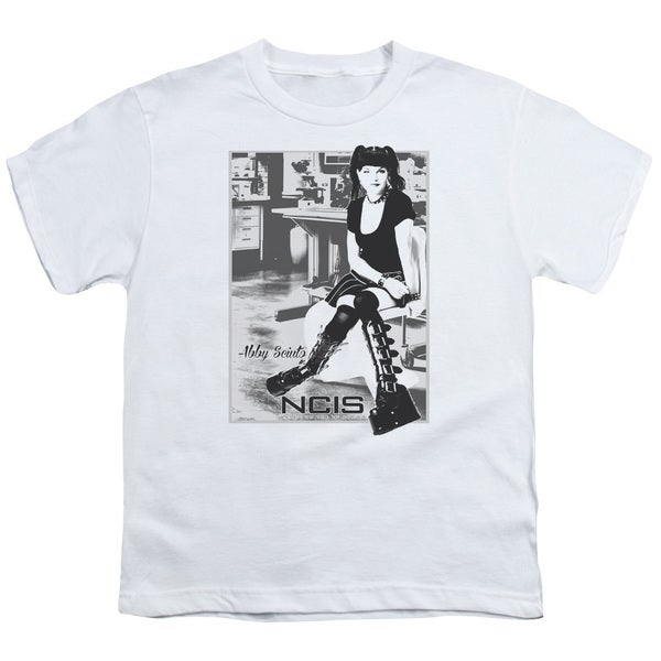 Ncis/Relax Short Sleeve Youth 18/1 in White