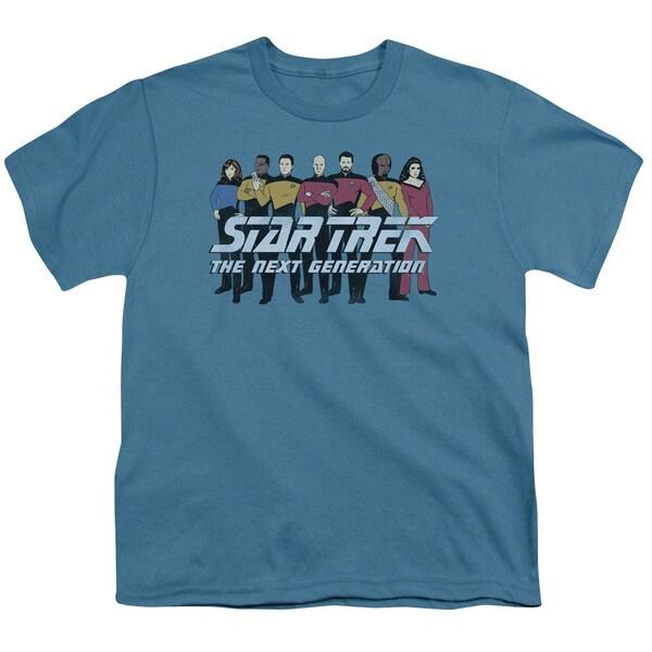Star Trek/Line Up Short Sleeve Youth 18/1 Slate