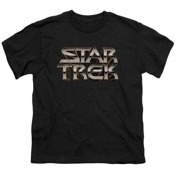 Star Trek/Feel The Steel Short Sleeve Youth 18/1 in Black