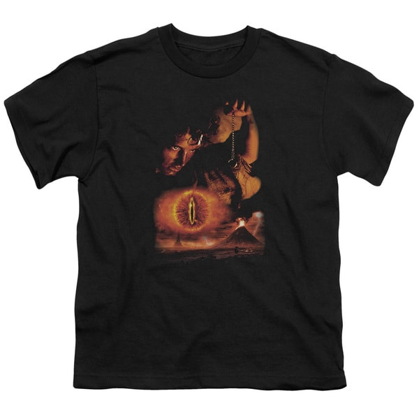 LOTR/Destroy The Ring Short Sleeve Youth 18/1 Black
