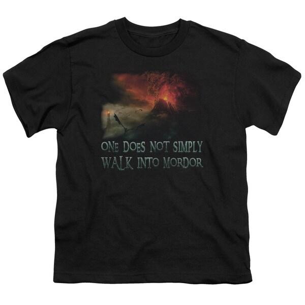 LOTR/Walk in Mordor Short Sleeve Youth 18/1 Black