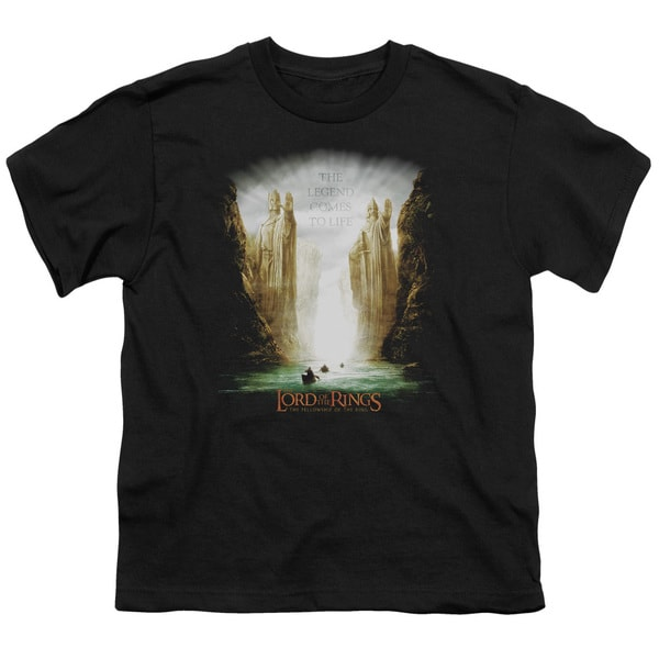 LOTR/Kings Of Old Short Sleeve Youth 18/1 Black