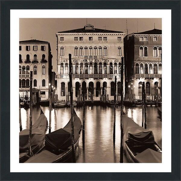 "Alan Blaustein ""Il Gran Canale di Notte"" Framed Plexiglass Wall Dcor"