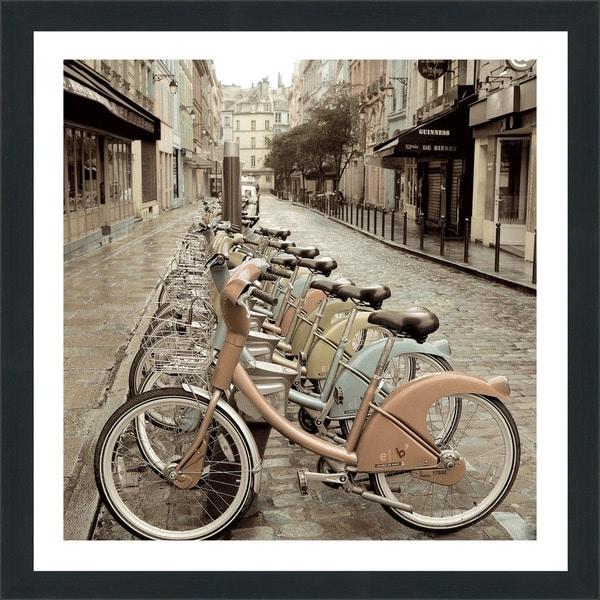 "Alan Blaustein ""City Street Ride Paris"" Framed Plexiglass Wall Dcor"