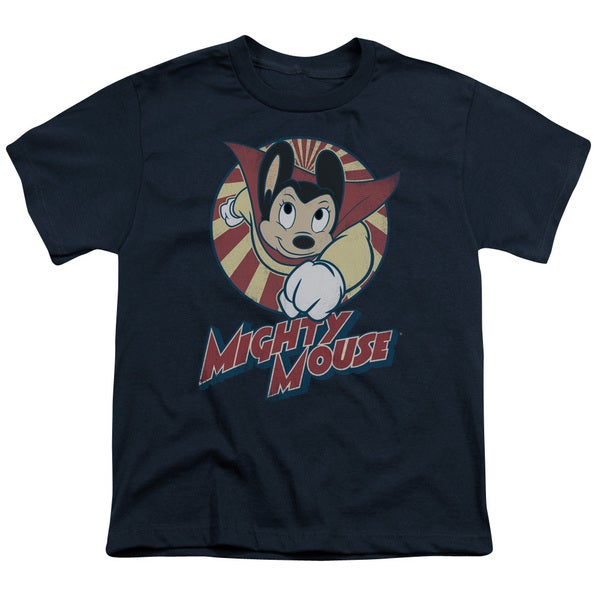 Mighty Mouse/The One The Only Short Sleeve Youth 18/1 in Navy