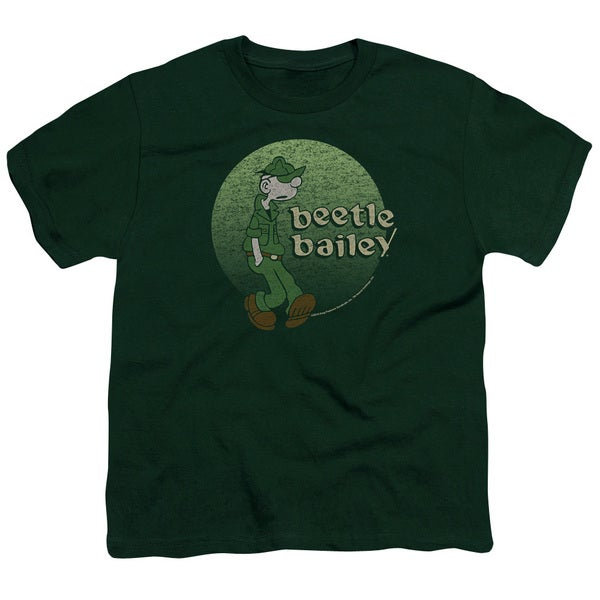 Beetle Bailey/Green Beetle Short Sleeve Youth 18/1 in Hunter Green