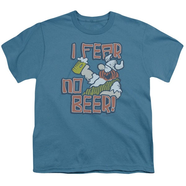 Hagar The Horrible/I Fear No Beer Short Sleeve Youth 18/1 in Slate