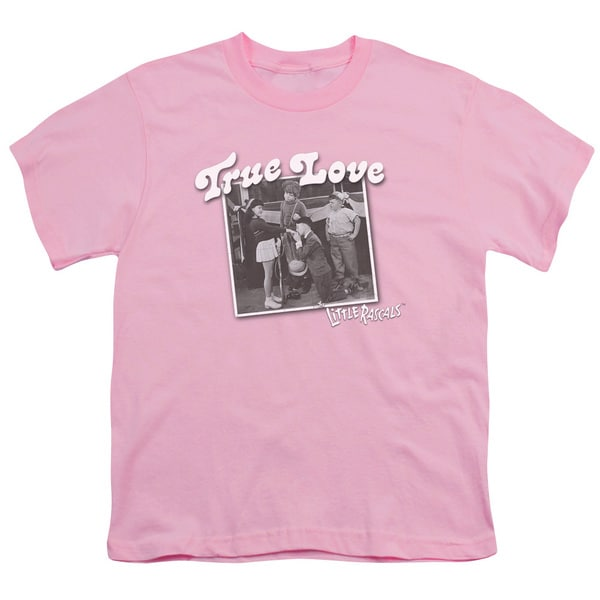 Little Rascals/True Love Short Sleeve Youth 18/1 Pink