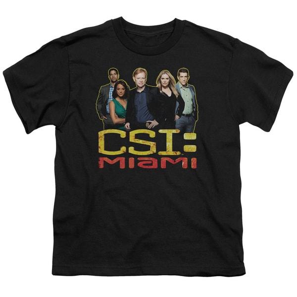 CSI Miami/The Cast in Black Short Sleeve Youth 18/1 Black