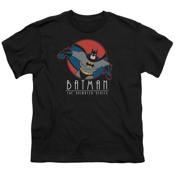Batman The Animated Series/Punch Out Short Sleeve Youth 18/1 in Black