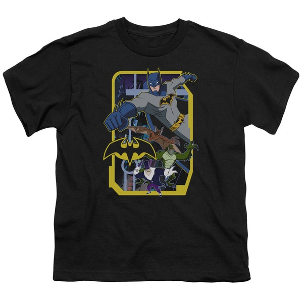 Batman Unlimited/Unlimited Villains Short Sleeve Youth 18/1 Black