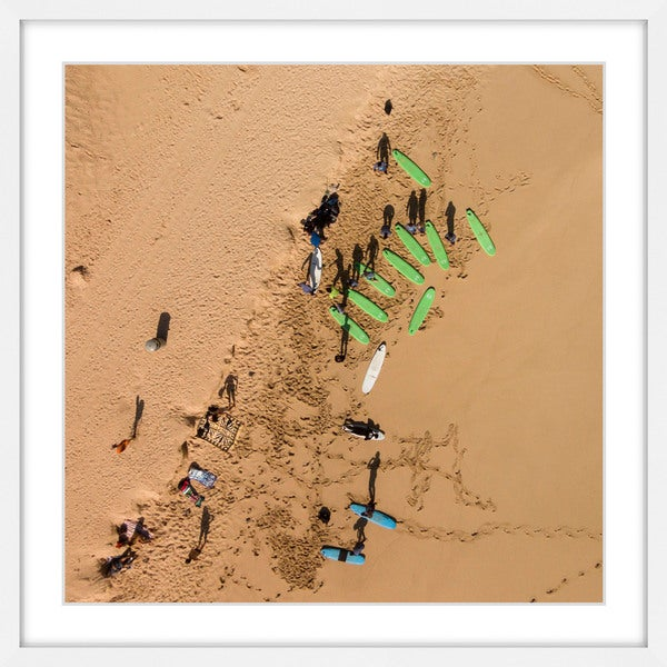 Marmont Hill - 'Green Surf Boards' by Karolis Janulis Framed Painting Print