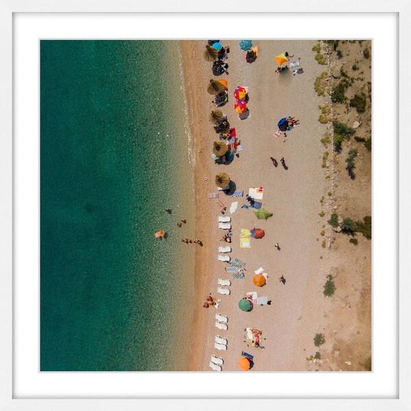 Marmont Hill - 'Beach Lineup' by Karolis Janulis Framed Painting Print 21153898