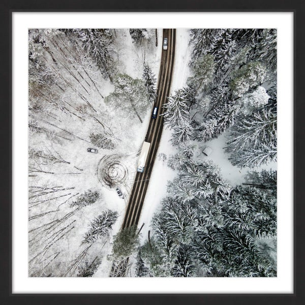 Marmont Hill - 'White Terrain' by Karolis Janulis Framed Painting Print