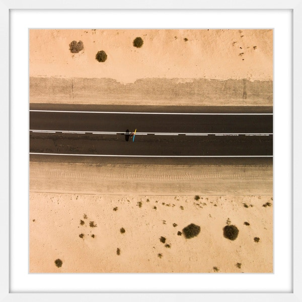 Marmont Hill - 'Crossing the Road' by Karolis Janulis Framed Painting Print