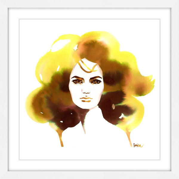 Marmont Hill - 'Blonde Ambition' by Lovisa Oliv Framed Painting Print