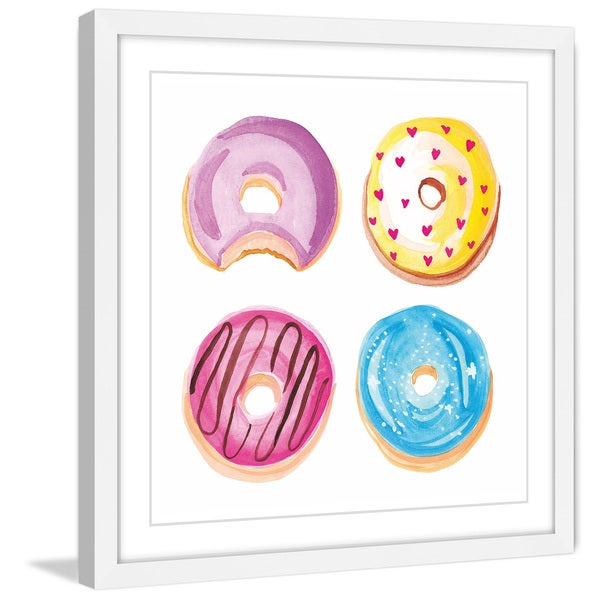 Marmont Hill - 'Donuts' by Molly Rosner Framed Painting Print 21154525
