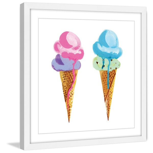 Marmont Hill - 'Ice Cream' by Molly Rosner Framed Painting Print 21154553