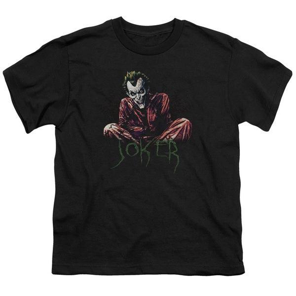 Batman/Straight Jacket Short Sleeve Youth 18/1 in Black