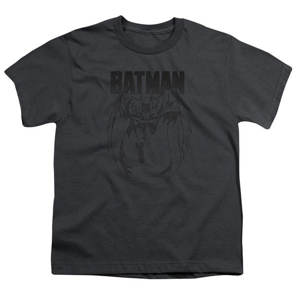 Batman/Grey Noise Short Sleeve Youth 18/1 in Charcoal