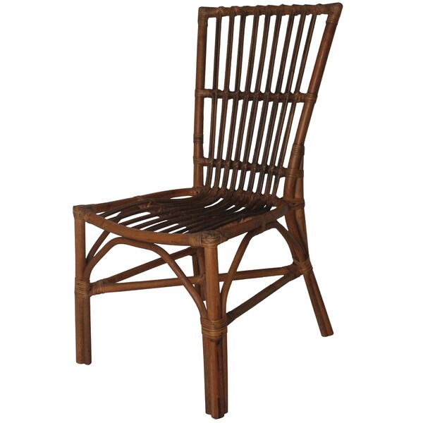 Aloka Brown Rattan 18-inch x 24.5-inch x 37.5-inch Accent Chair