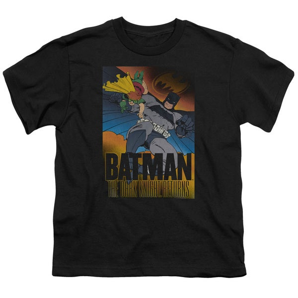 Batman/Dk Returns Short Sleeve Youth 18/1 in Black