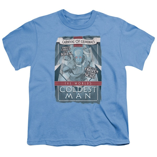 Batman/Coldest Man Short Sleeve Youth 18/1 Carolina Blue