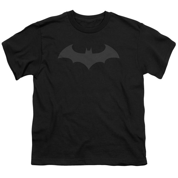 Batman/Hush Logo Short Sleeve Youth 18/1 in Black