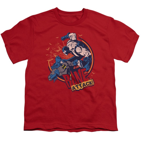 Batman/Bane Attack! Short Sleeve Youth 18/1 in Red