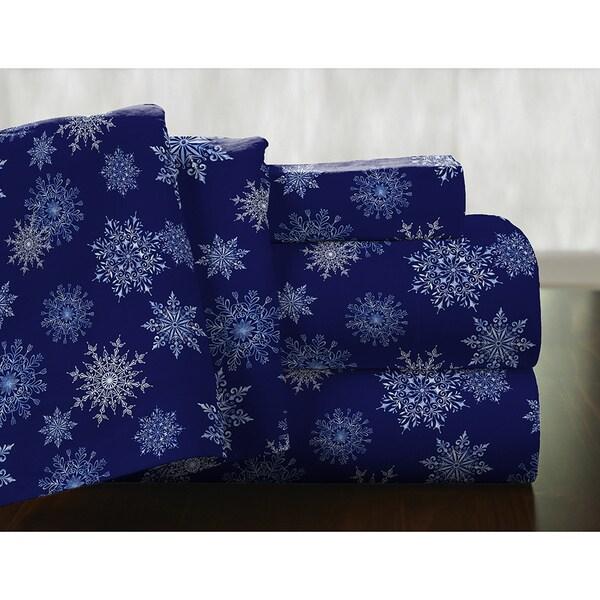 Pointehaven Superior Weight Cotton Deep Pocket Flannel Sheet Set